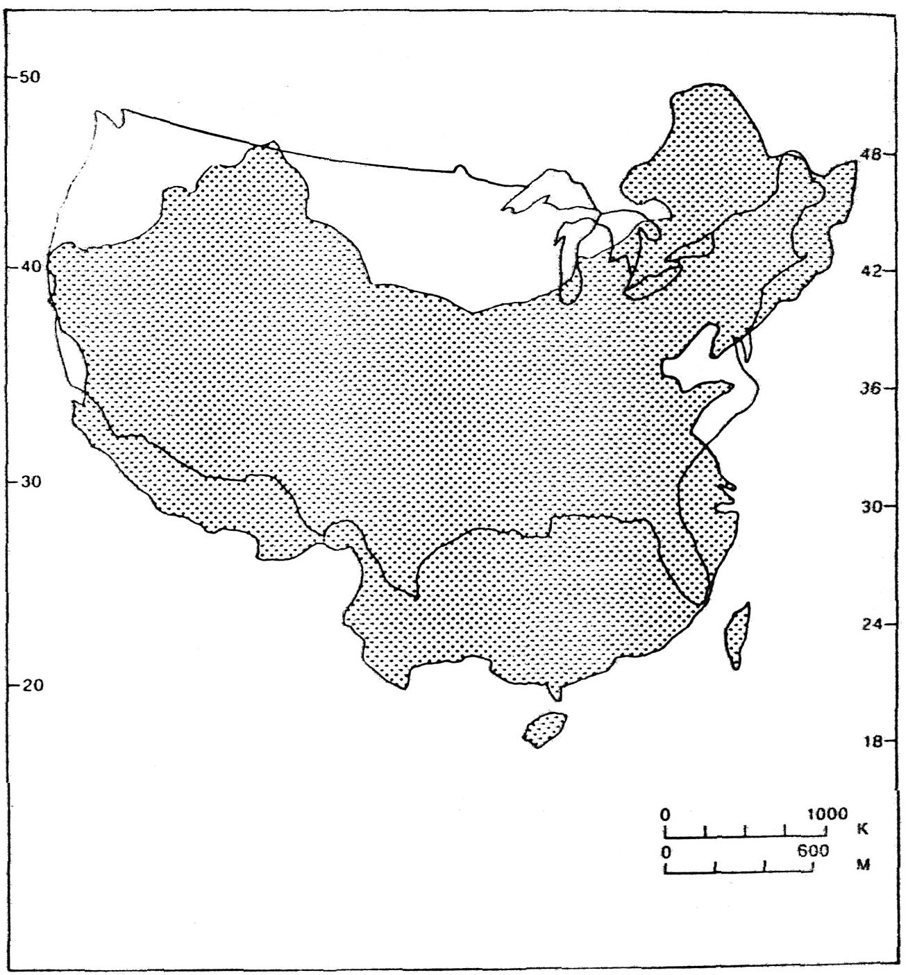 comparison of size between u s and china